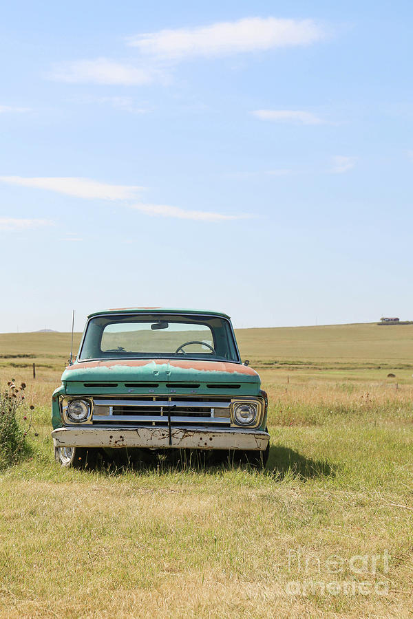 Ranch Photograph - Old Ford Farm Truck Ringling Montana by Edward Fielding