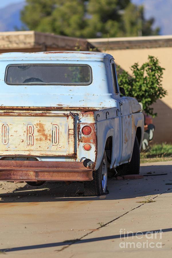 Pickup Photograph - Old Ford Pickup Truck Tucson Arizona by Edward Fielding