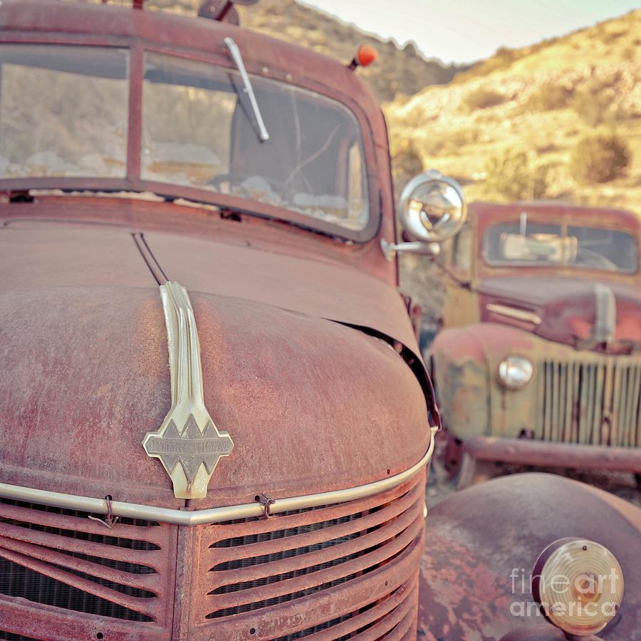 Rusty Photograph - Old Friends Two Rusty Vintage Cars Jerome Arizona by Edward Fielding