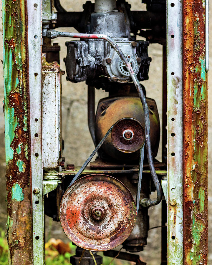 Old Gas Pump Sussex County NJ by Amelia Pearn