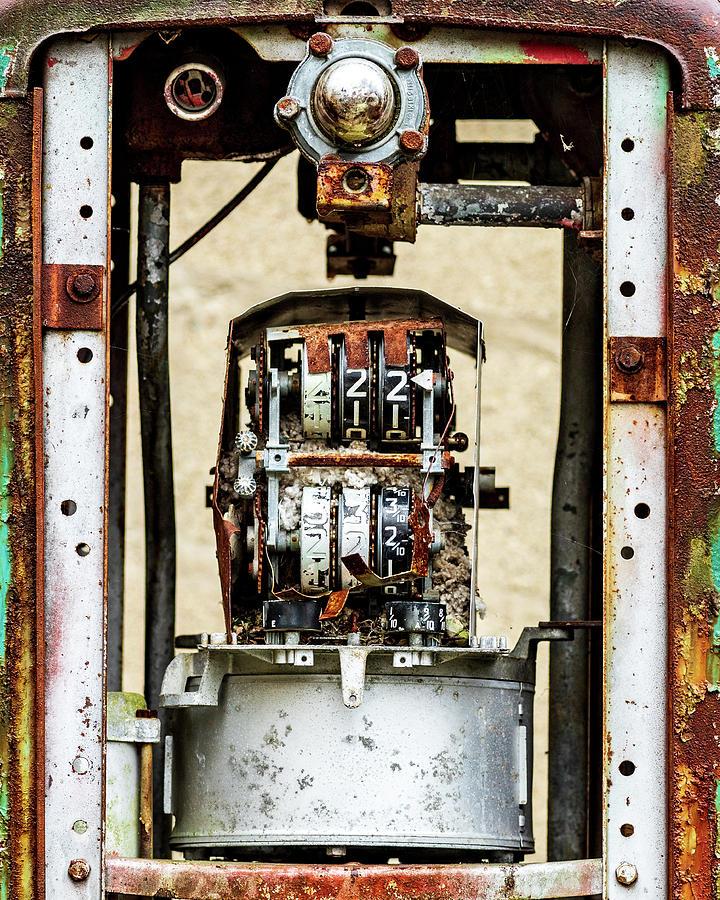Old Gas Pump Walpack NJ by Amelia Pearn