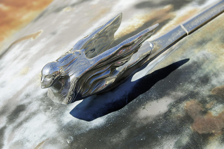 Old Girl -- Cadillac Hood Ornament in Barstow, California by Darin Volpe