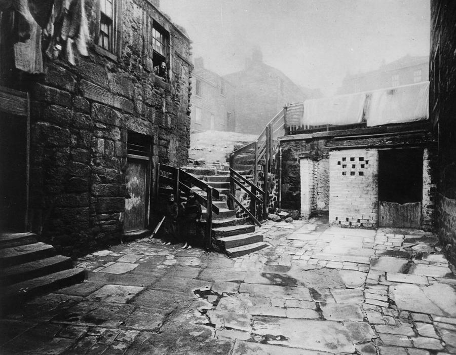 Old Glasgow Close Photograph by T. R. Annan
