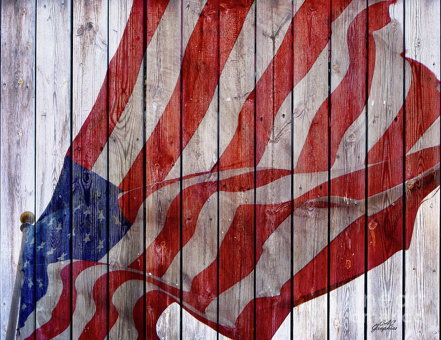 Old Glory Barn Wood by CAC Graphics