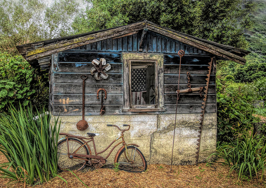 Old Glory Bicycle Cabin by Floyd Snyder