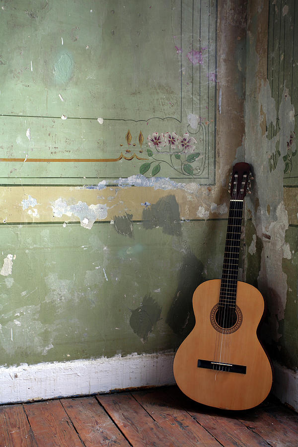 Old Guitar Photograph by Kursad