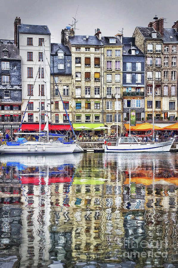 Honfleur Photograph - Old Harbor Of Honfleur by Delphimages Photo Creations