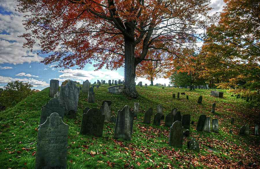 Old Hill Burying Ground in Autumn by Wayne Marshall Chase