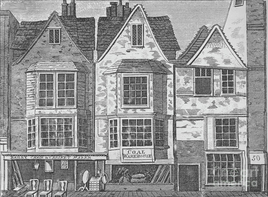 Old Houses In St John Street Drawing by Print Collector