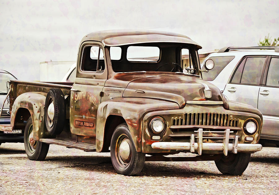 Old International Truck Photograph by Gaby Ethington