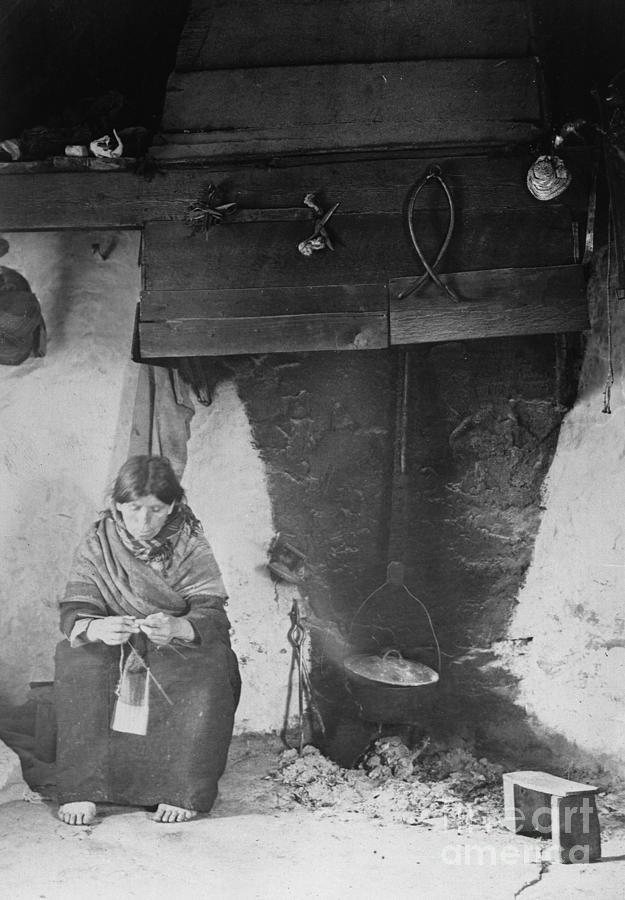 Old Irish Woman By Fireplace Photograph by Bettmann