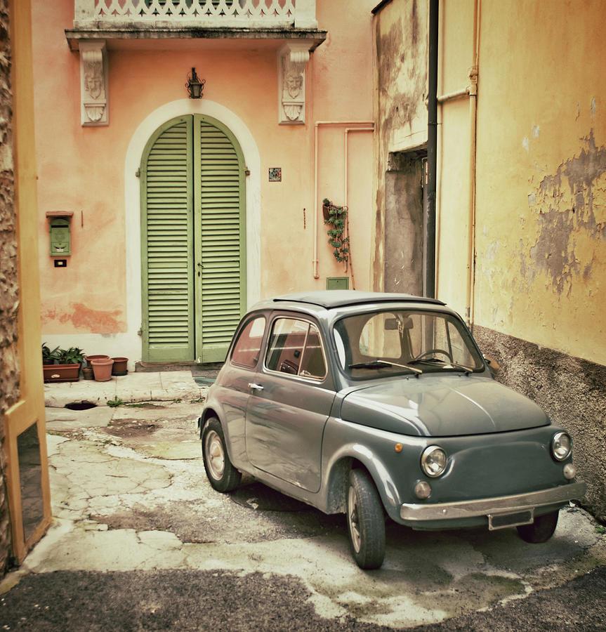 Old Italian Car Photograph by Seanshot