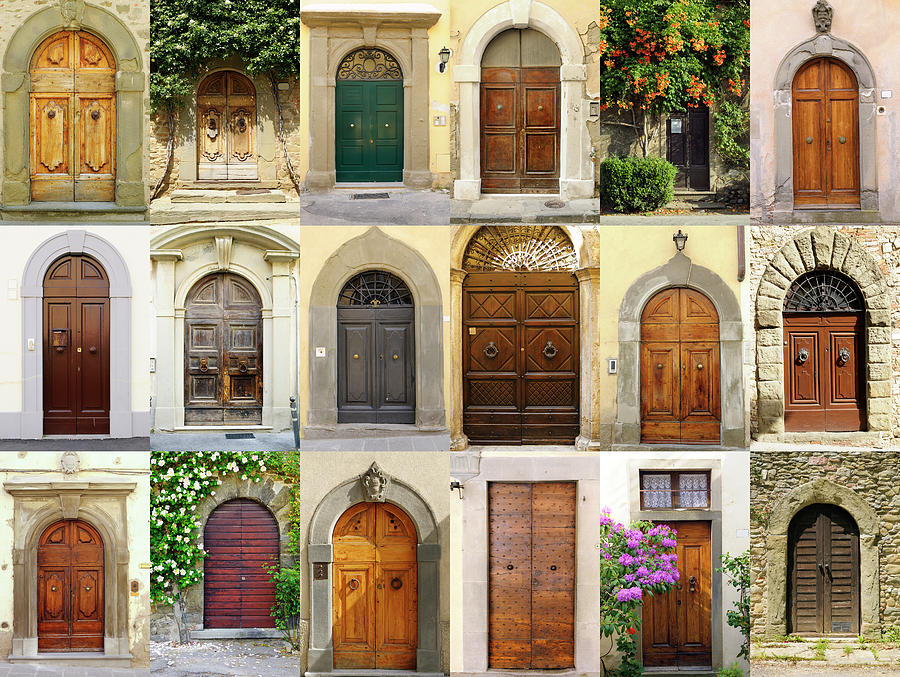Old Italian Doors Collection,chianti Photograph by Lisa-blue