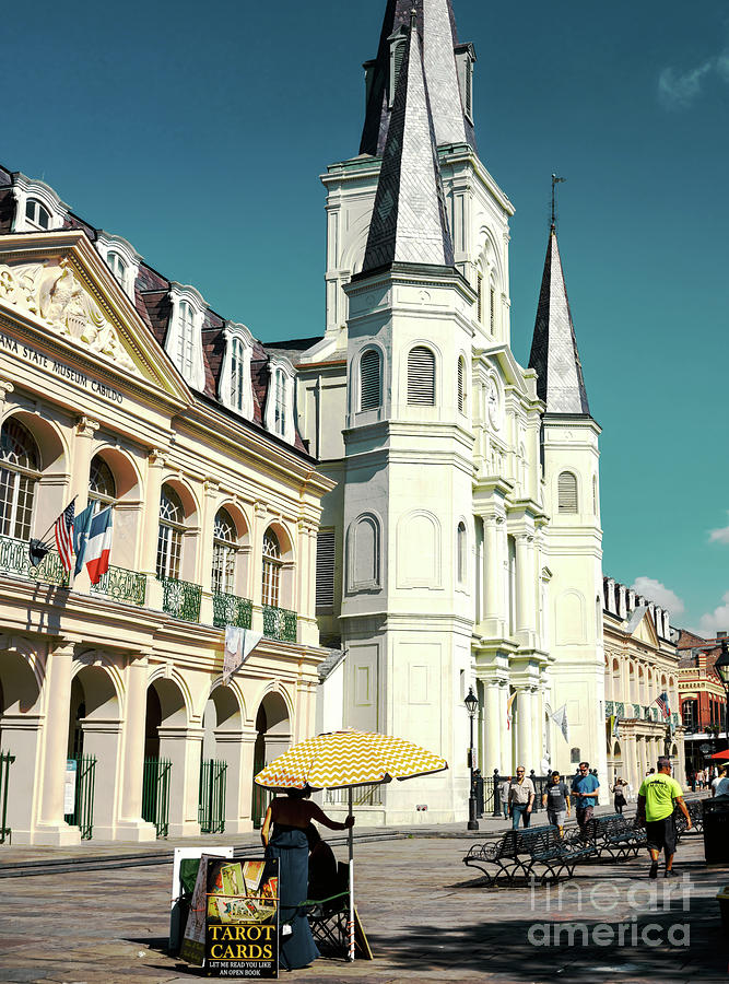 Old Jackson Square in New Orleans by John Rizzuto