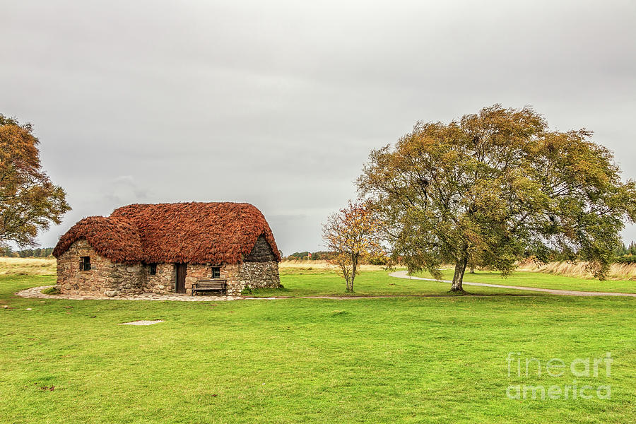 Old Leanach Cottage Culloden Moor Photograph