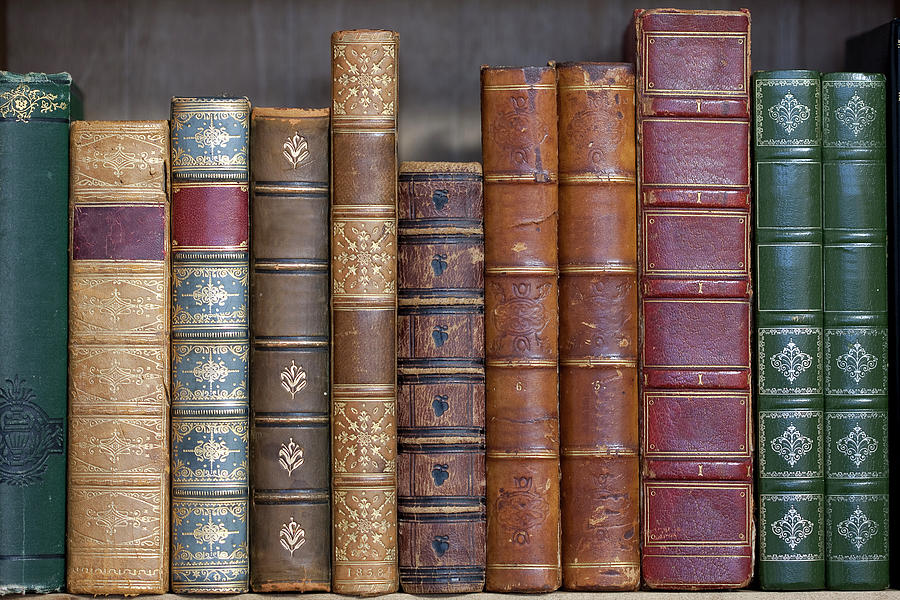 Old Leather Bound Books Photograph by Andrew howe
