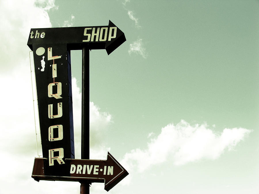 Old Liquor Store Sign Photograph by Kevinruss