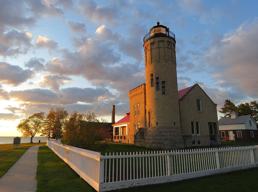 Old Mackinac Point Lighthouse Sunrise by Keith Stokes