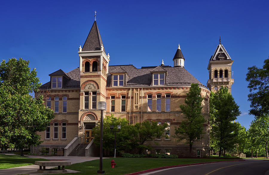 Old Main Agricultural college of Utah Logan Utah Go Aggies by TL Mair