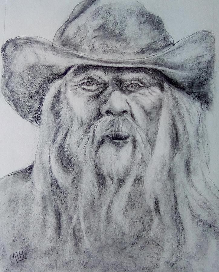 Old Man Painting - Old Man In A Hat  by Marcia Hochstetter