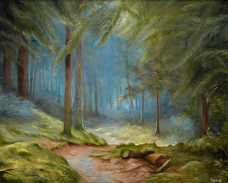 Forest Painting - Old Mans Path by Mikael Wigen