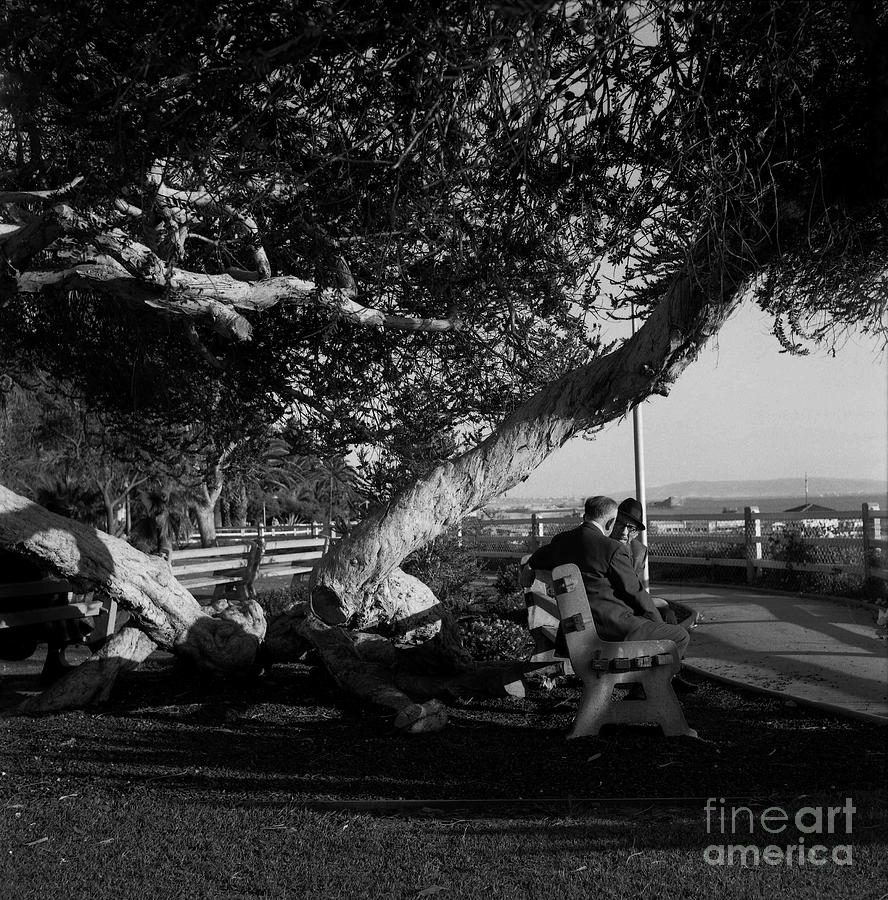 Old Men passing the time on the Ocean Front Walk - circa 1974 by Doc Braham