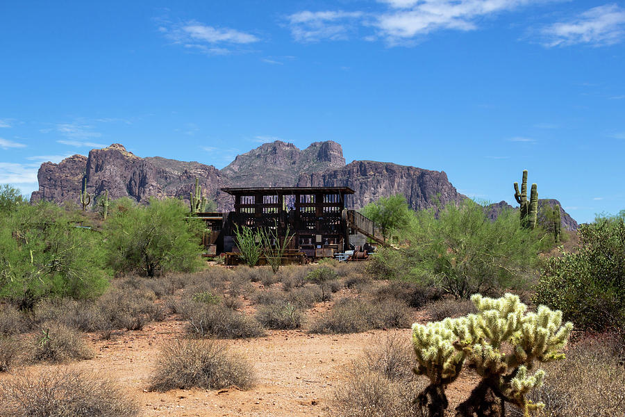 Old Mill and Superstition Mountains by Amy Sorvillo