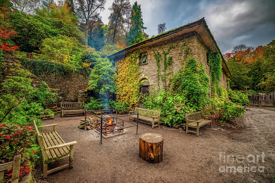 Old Mill Autumn by Adrian Evans