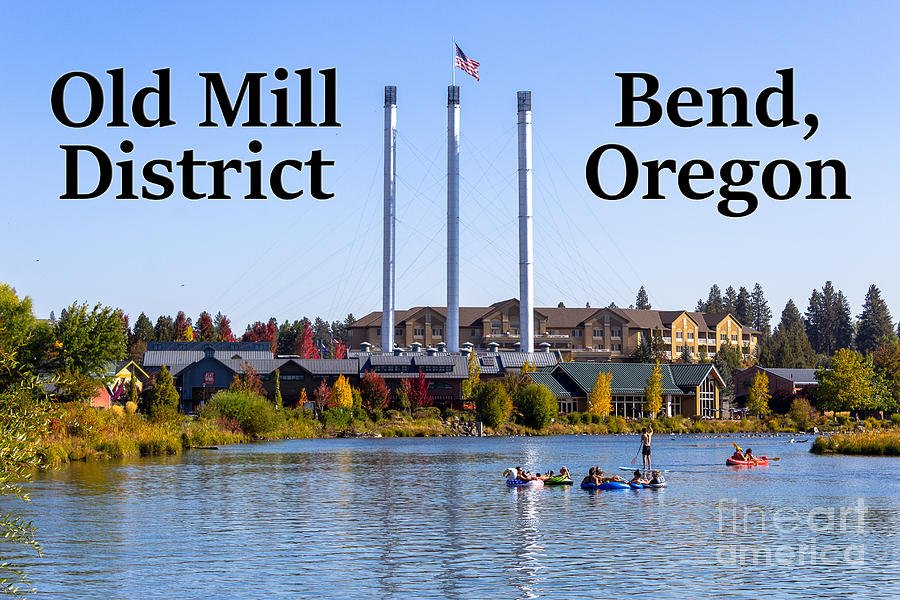 Old Mill District Photograph - Old Mill District Bend Oregon by G Matthew Laughton