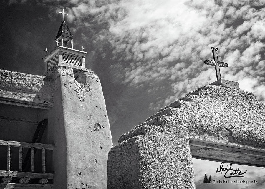 Adobe Photograph - Old Mission Crosses by David Cutts