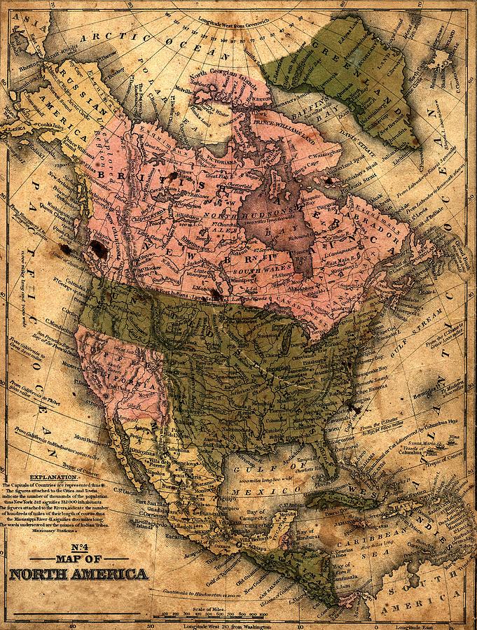 Old North America Map.Old North America Map By Belterz