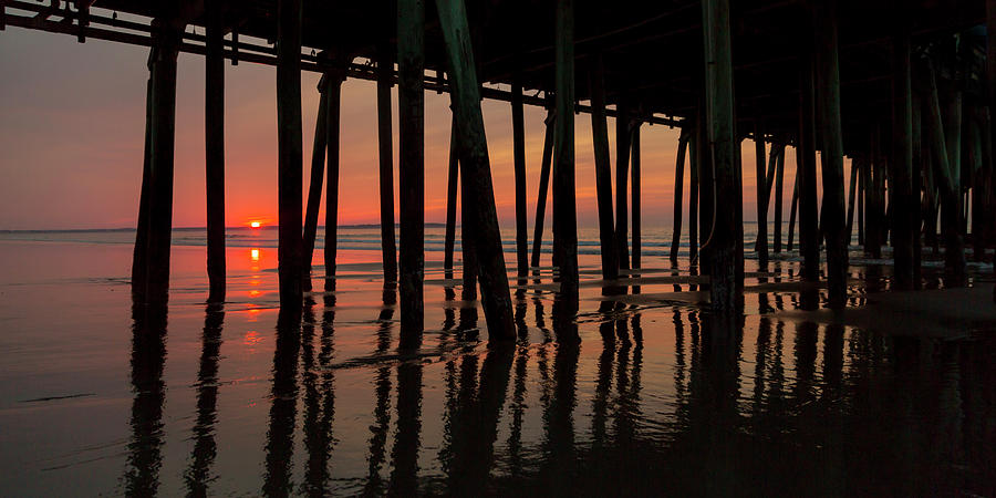 Old Photograph - Old Orchard Beach Fishing Pier Welcome To The Day by Betsy Knapp