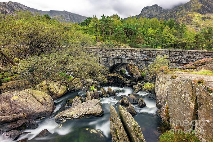 Architecture Photograph - Old Packhorse Bridge Snowdonia  by Adrian Evans