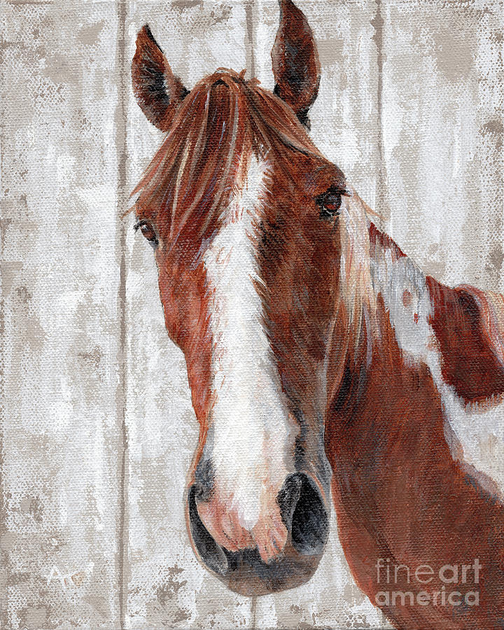 Old Paint - Horse Painting by Annie Troe