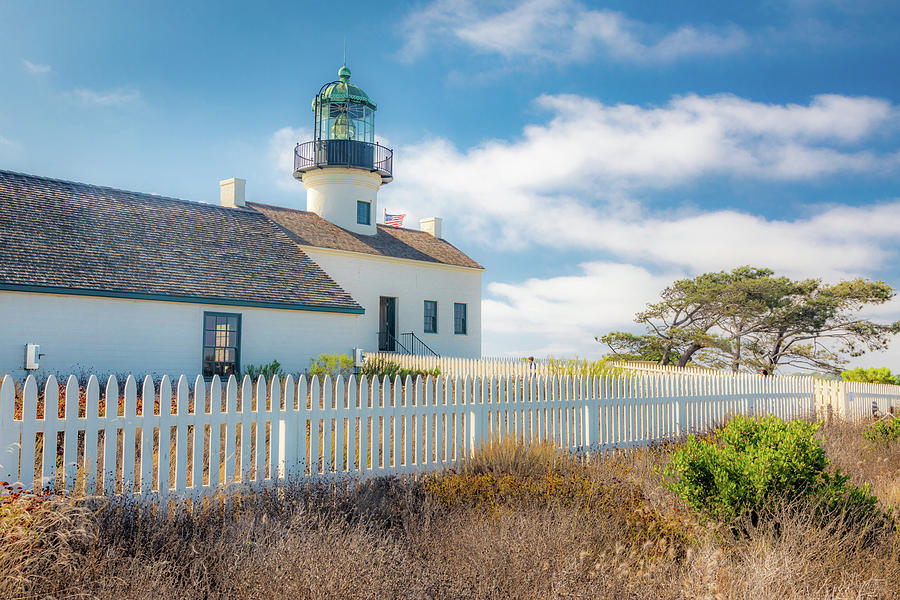 Old Point Loma Lighthouse - Photographic by Peter Tellone