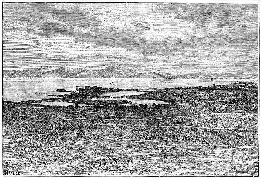 Old Ports Of Carthage, Tunisia, C1890 Drawing by Print Collector