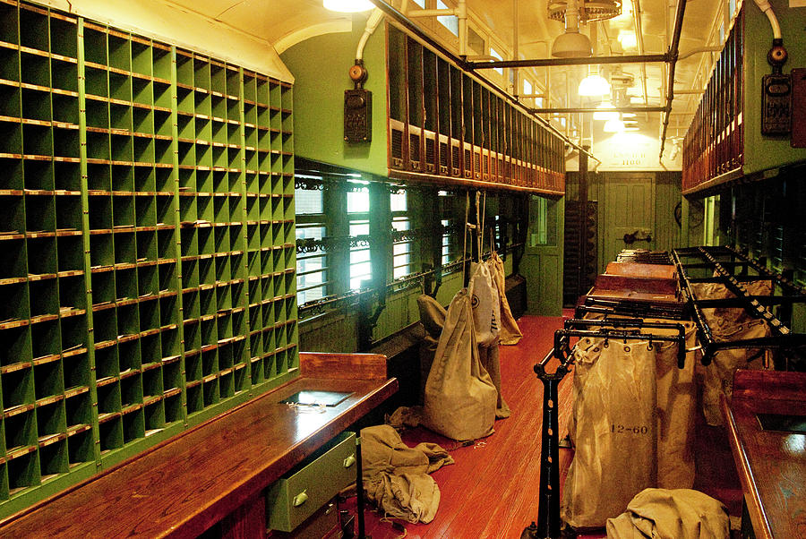 Prr Photograph - Old Railroad Mail Car Interior by Paul W Faust - Impressions of Light