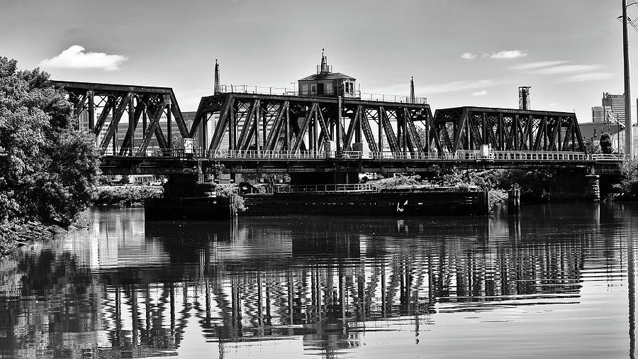 Old Railroad Swing Bridge by Louis Dallara