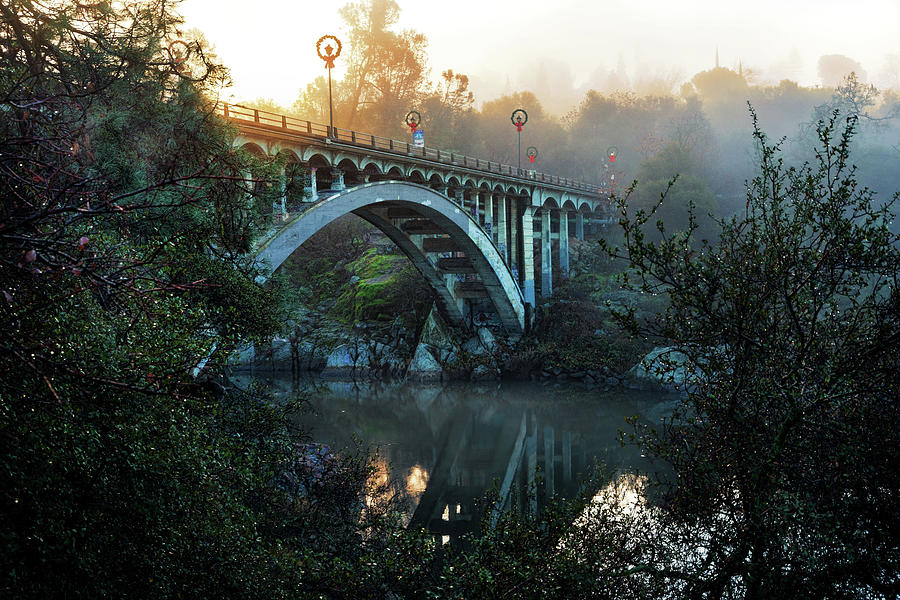 Foggy Rainbow Bridge  by Janet Kopper