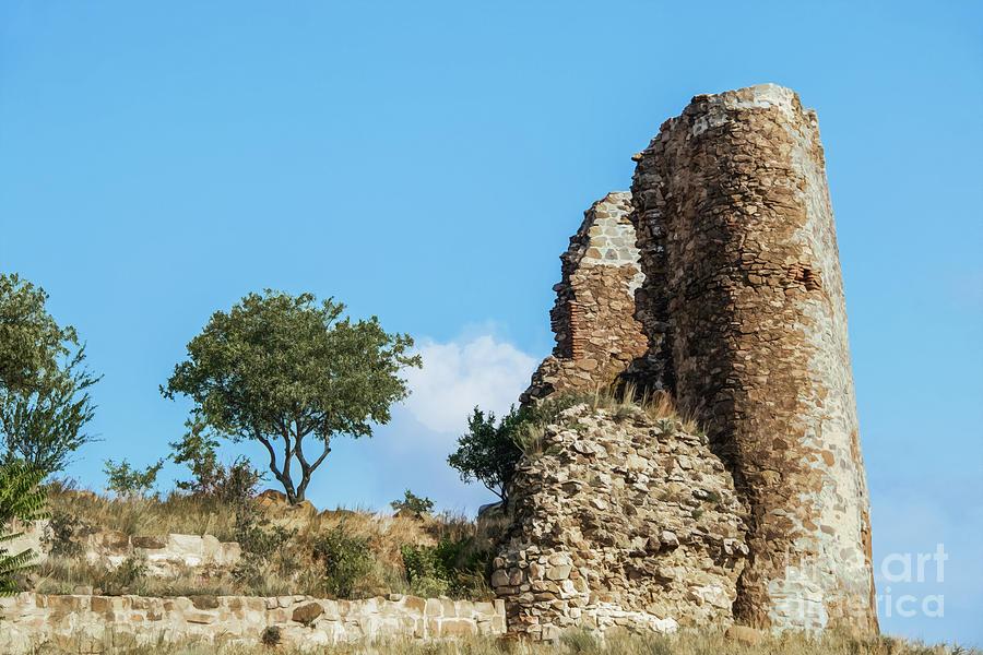 Old ruined tower in Eastern Europe - Part of 6th century Jvari Monastery in Mtskheta Georgia by Susan Vineyard