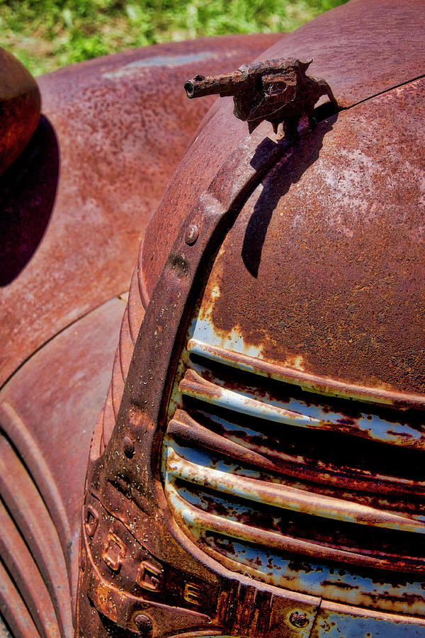 Old Rusty Gun Hood Ornament by Garry Gay