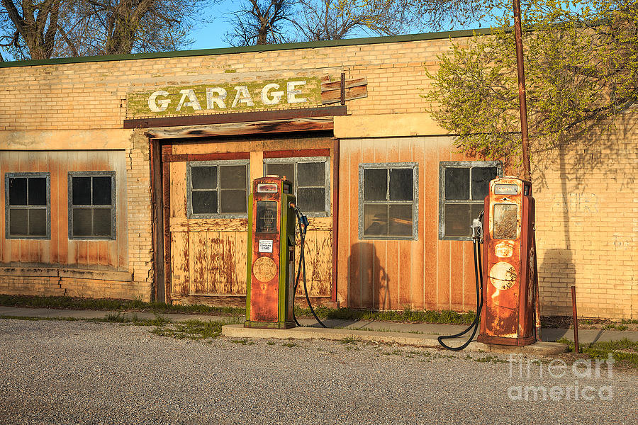 Auto Photograph - Old Service Station In Rural Utah, Usa by Johnny Adolphson