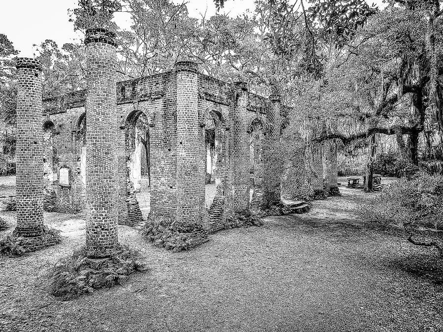 Old Sheldon Church - Angled by Scott Hansen