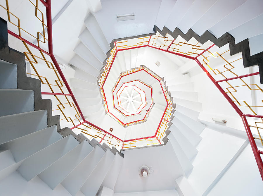 Old Spiral Staircase Photograph by Georgeclerk