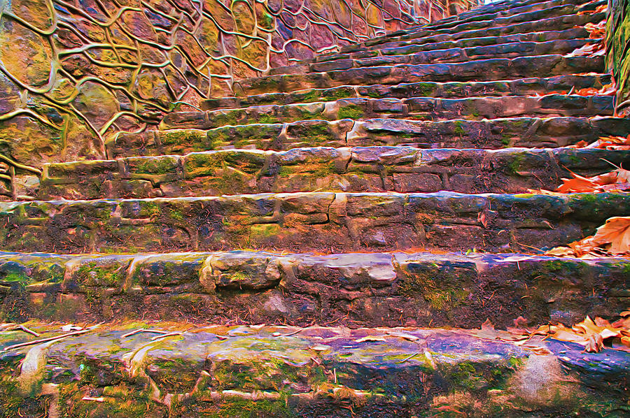 Old Stone Steps From Below by Gary Slawsky