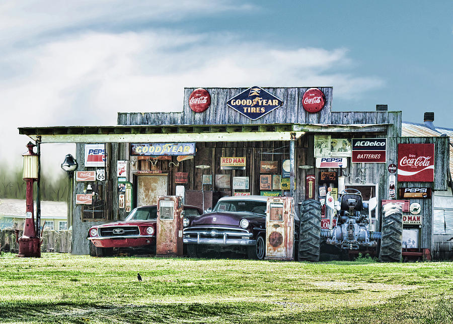 Old Store And More Digital Art by Bonnie Willis