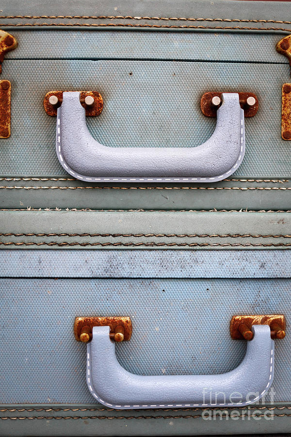 Travel Photograph - Old Suitcases 1 by Edward Fielding