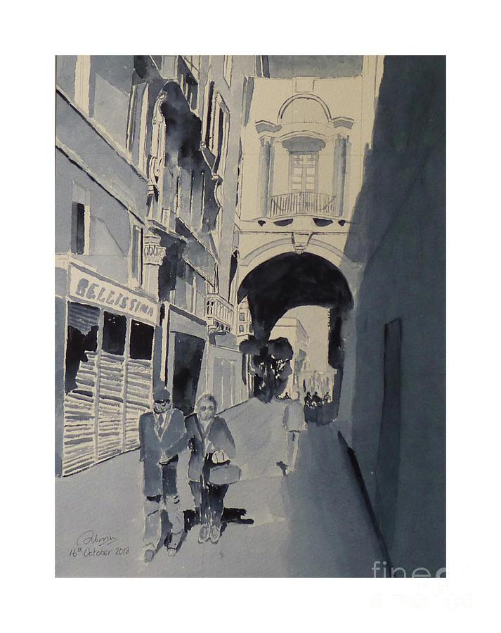 Old Theatre Street Valletts by Godwin Cassar