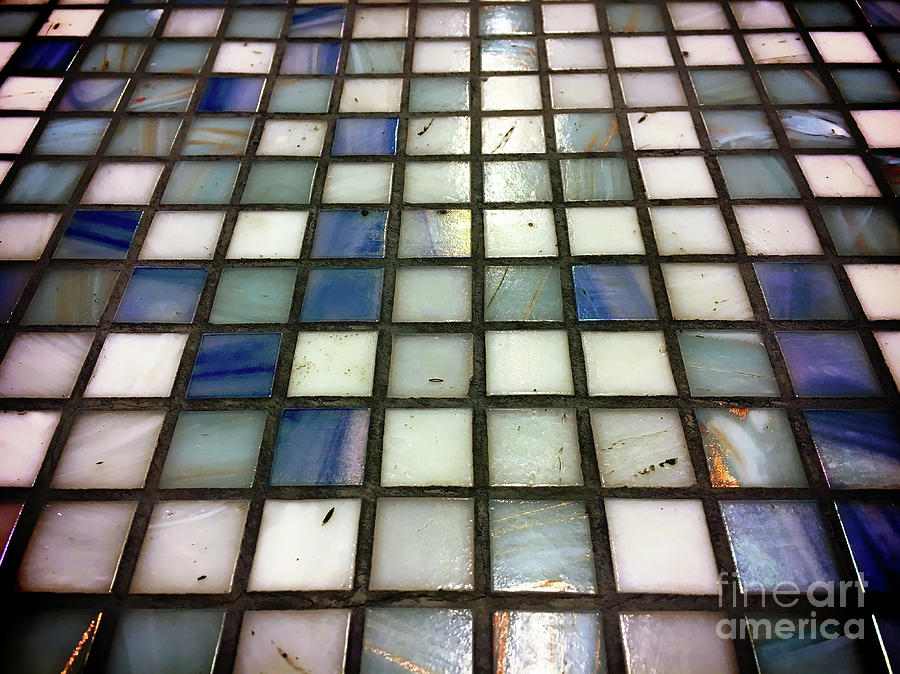 Abstract Photograph - Old Tiles Background by Tom Gowanlock