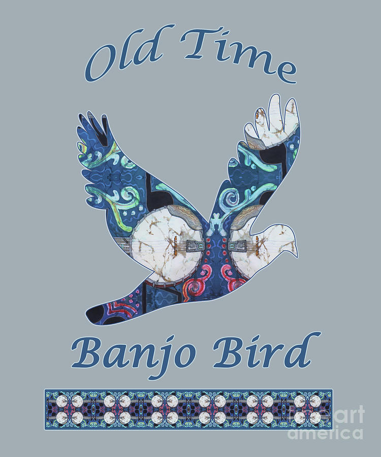 Banjo Mixed Media - Old Time Banjo Bird  by Sue Duda